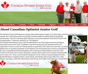 canadian optimist junior golf association in ontario golf for juniors