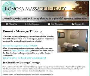 komoka message therapy in komoka ontario website design by power flower web design kendell hall